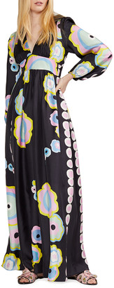 Cynthia Rowley Dary Graphic Print Long-Sleeve Maxi Dress
