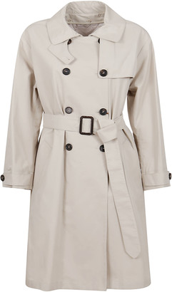 Max Mara Beige Cotton Raincoat