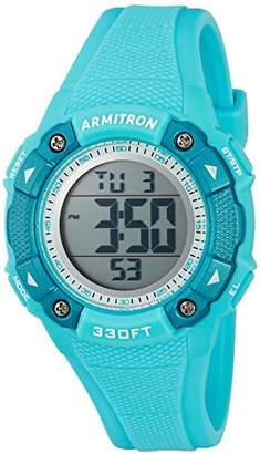 Armitron Sport Women's 45/7081LBL Digital Chronograph Resin Strap Watch