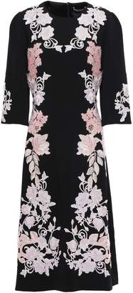 Dolce & Gabbana Embroidered Crepe Dress
