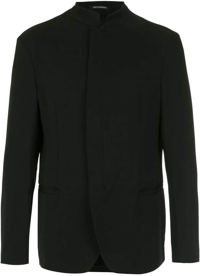 Emporio Armani concealed fastening blazer