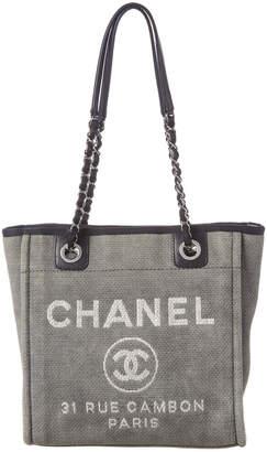 Chanel Gray Canvas Mini Deauville Tote