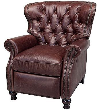 JCPenney Martin Brown Antique Leather Recliner