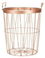 Saks Fifth Avenue Rose Goldtone Wire Basket