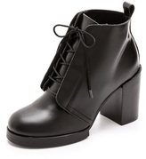Cheap Monday Chunky Heel Lace Up Booties