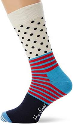Happy Socks Men's Stripe and Dot Sock (Multicolour 670), 7-10 (Size:41-46)