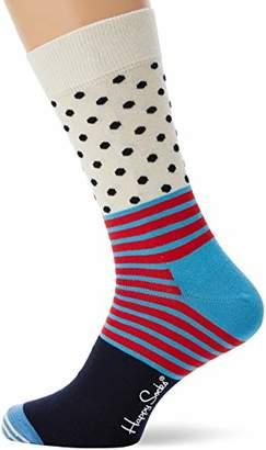 Happy Socks Men's Stripe And Dot Sock Multicolour 970), 7-10 (Size:41-46)