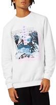 Topman Men's Graphic Sweatshirt