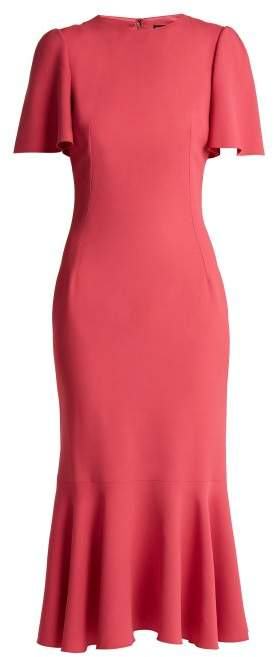 Dolce & Gabbana Fluted Sleeve Cady Dress - Womens - Pink