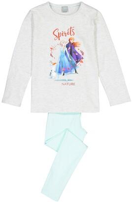 Frozen Elsa Print Cotton Pyjamas, 3-12 Years