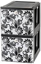 Iris Stacking File Storage Drawer with Design - 2 Pack