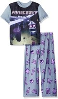 AME Sleepwear Boys' Big Boys' Minecraft Short Sleeve Long Leg Pajama Set
