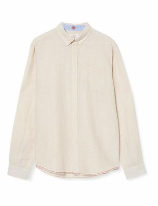 Springfield Men's Linen Stripe-c/52 Casual Shirt