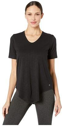tasc Performance Longline Tee (Black Slub) Women's T Shirt