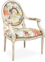 Massoud Furniture Dash Armchair, Coral Neo-Toile