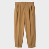 Paul Smith Men's Taupe Cotton Tapered Trousers