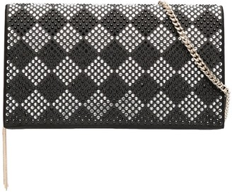 Liu Jo Studded Diamond Check Clutch
