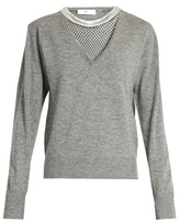Toga Mesh-insert wool sweater