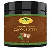 (16 oz) Raw Cocoa Butter with RECIPE EBOOK - Perfect for All Your DIY Home Recipes Like Soap Making, Lotion, Shampoo, Lip Balm & Hand Cream - Unrefined Organic Cacao Butter Good for Stretch Marks
