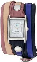 La Mer Women's Quartz Metal and Leather Casual WatchMulti Color (Model: LMLWMIX3001)