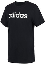 adidas Boys' Tee Shirts BLACK - Black Linear Logo Tee - Boys