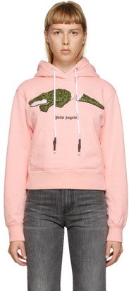 Palm Angels Pink Croco Hoodie
