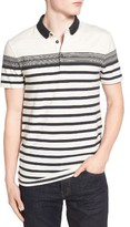BOSS ORANGE Men's Promo Stripe Jersey Polo