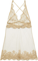 Thumbnail for your product : I.D. Sarrieri Metallic Embroidered Tulle Chemise