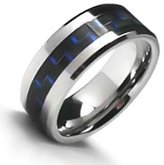Bling Jewelry Mens Matte Polish Finish Tungsten Wedding Band Ring Grooved With Free Engraving