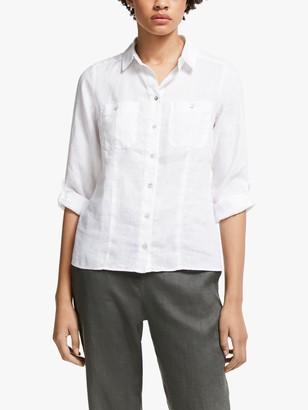 John Lewis & Partners Linen Safari Shirt