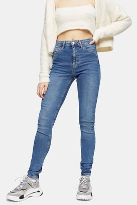 Topshop Womens Tall Mid Stone Jamie Skinny Jeans - Mid Stone