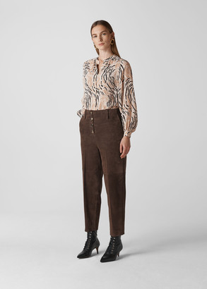 Reed Print Silk Shirt