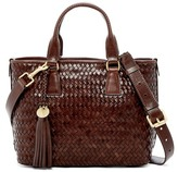 Cole Haan Celia Small Woven Leather Tote Bag