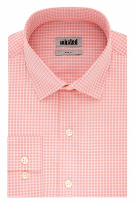 Kenneth Cole New York Unlisted by Kenneth Cole Mens Slim Fit Checks and Stripes (Patterned) Dress Shirt
