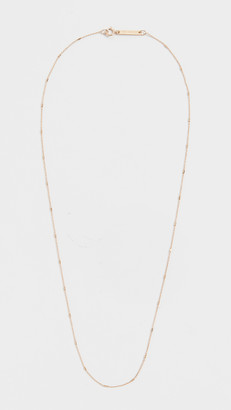 Zoë Chicco 14k Gold Tiny Cable and Bar Chain