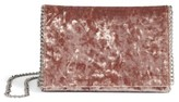Chelsea28 Velvet & Chain Clutch - Brown