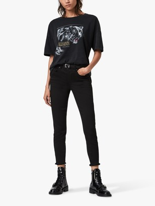 AllSaints Panthera Cori Graphic T-Shirt, Black