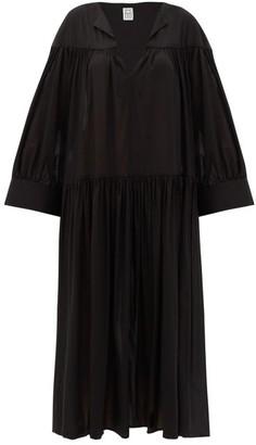 Totême Alassio Cotton-blend Voile Dress - Black
