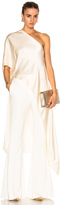 Rosetta Getty One Shoulder Bias Caftan Top