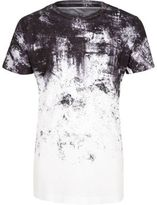 River Island Boys white faded print t-shirt