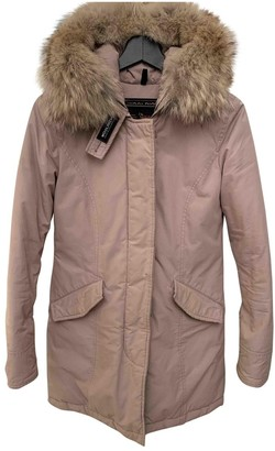 Woolrich Pink Cotton Coat for Women