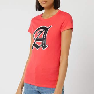 Armani Exchange Women's Square Logo T-Shirt