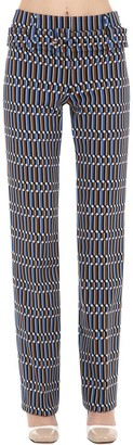 Prada Jacquard Pants W/ Belt