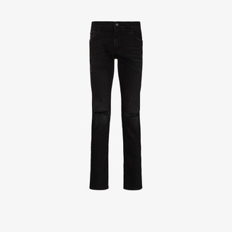 Dolce & Gabbana Ripped Knee Slim Fit Jeans