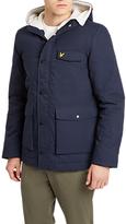 Lyle & Scott Shearling Coat, Navy