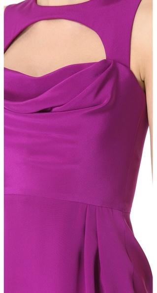 Cushnie et Ochs Silk Crepe Sleeveless Dress