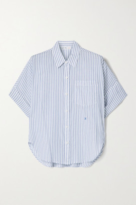 Alex Mill Charlie Striped Cotton-voile Shirt - Blue