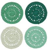 Danica Set of Four Hemlock Crocheted Coasters