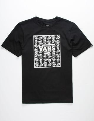Vans Print Box Skulls Boys T-Shirt