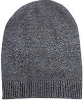 Barneys New York MEN'S WOOL-CASHMERE SLOUCHY HAT-DARK GREY